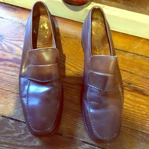 Men's Bally brown leather loafers